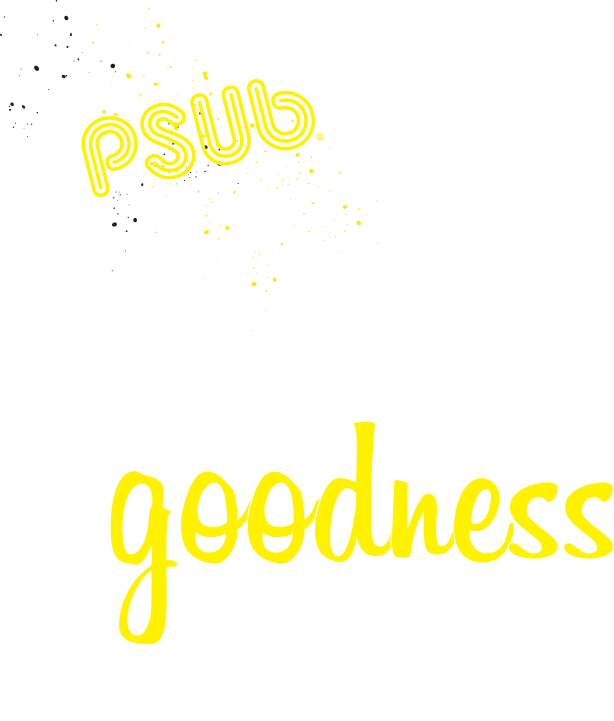 Text image PSUB hand crafted goodness inside