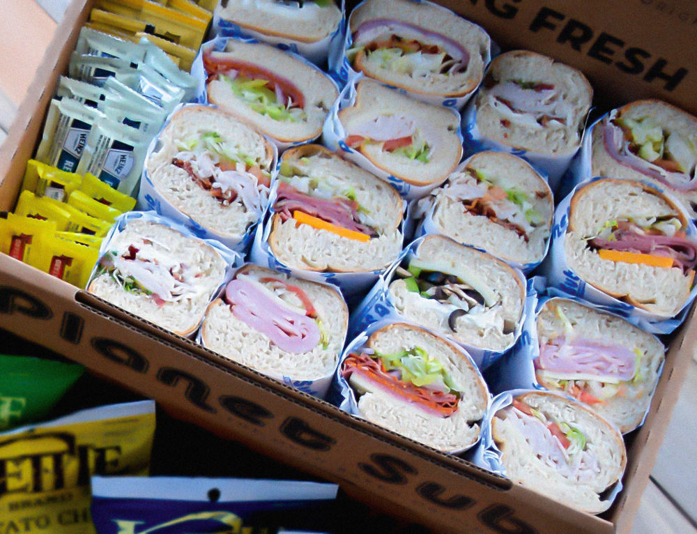 Box Lunches, Catering, Delivery, Planet Sub, sandwiches
